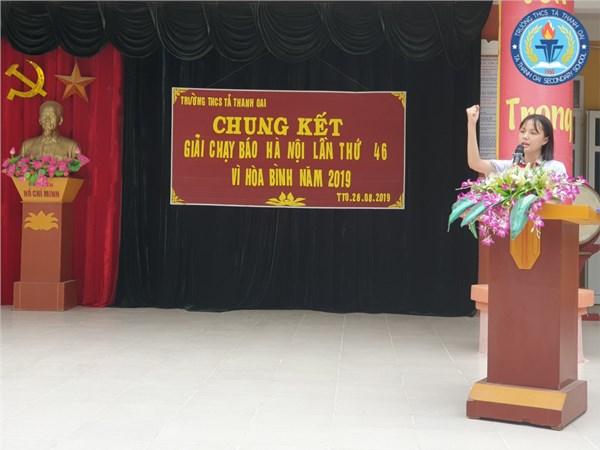 Trường THCS Tả Thanh Oai tổ chức Chung kết giải chạy Báo Hà Nội mới lần thứ 46 - Vì Hòa Bình năm 2019