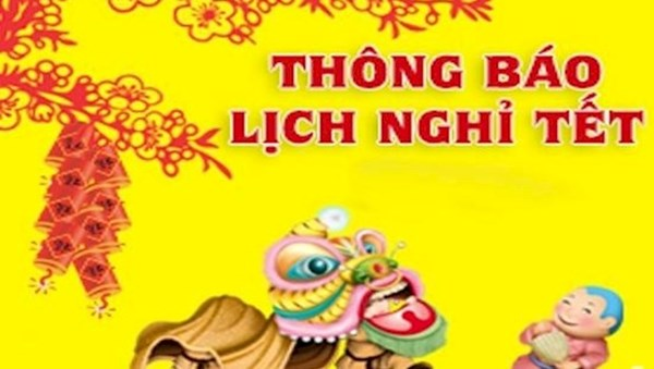 Thông báo lịch nghỉ tết nguyên đán Mậu Tuất năm 2018 nghành giáo dục và đào tạo Hà Nội.